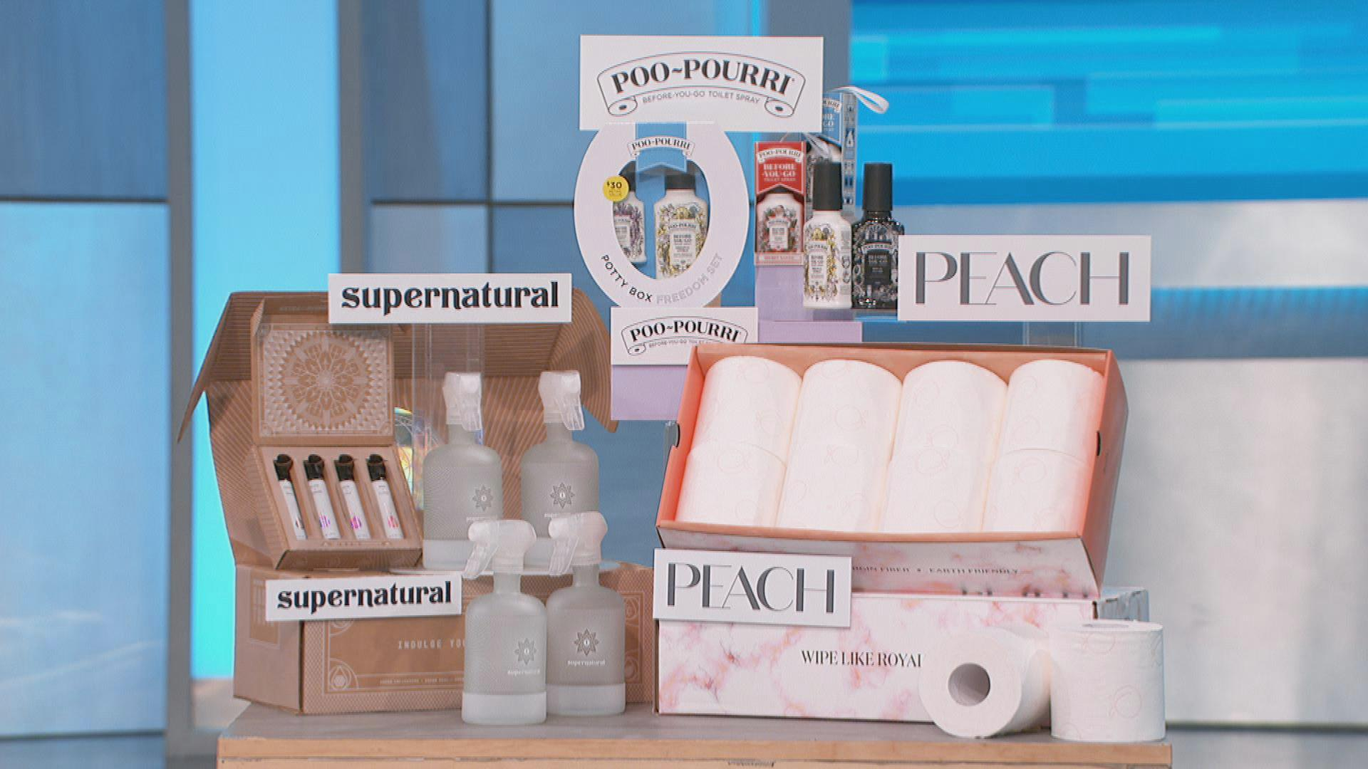 Peach goods, poopourri and supernatural bundle