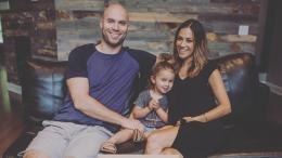 Jana Kramer with her husband and daughter