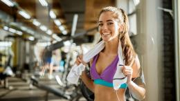 Woman smiling after a workout