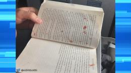 Book splattered with Blood